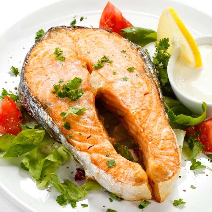 Recette des darnes de saumon la nantua - Cuisiner darne de saumon ...