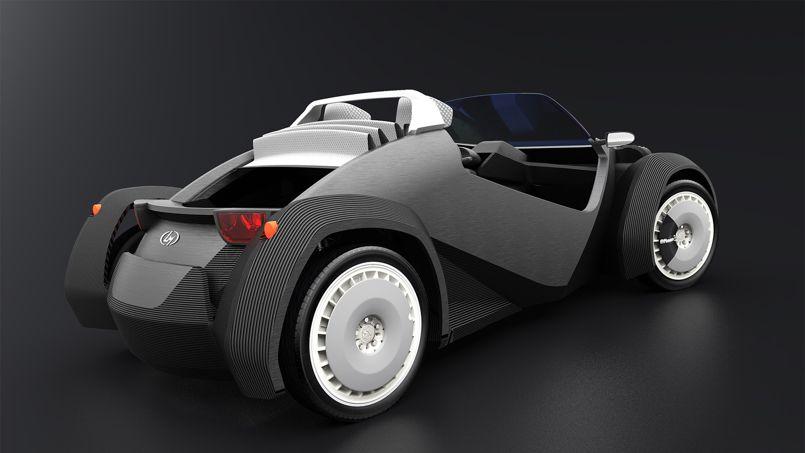 strati une voiture con ue en 44 heures avec une imprimante 3d. Black Bedroom Furniture Sets. Home Design Ideas
