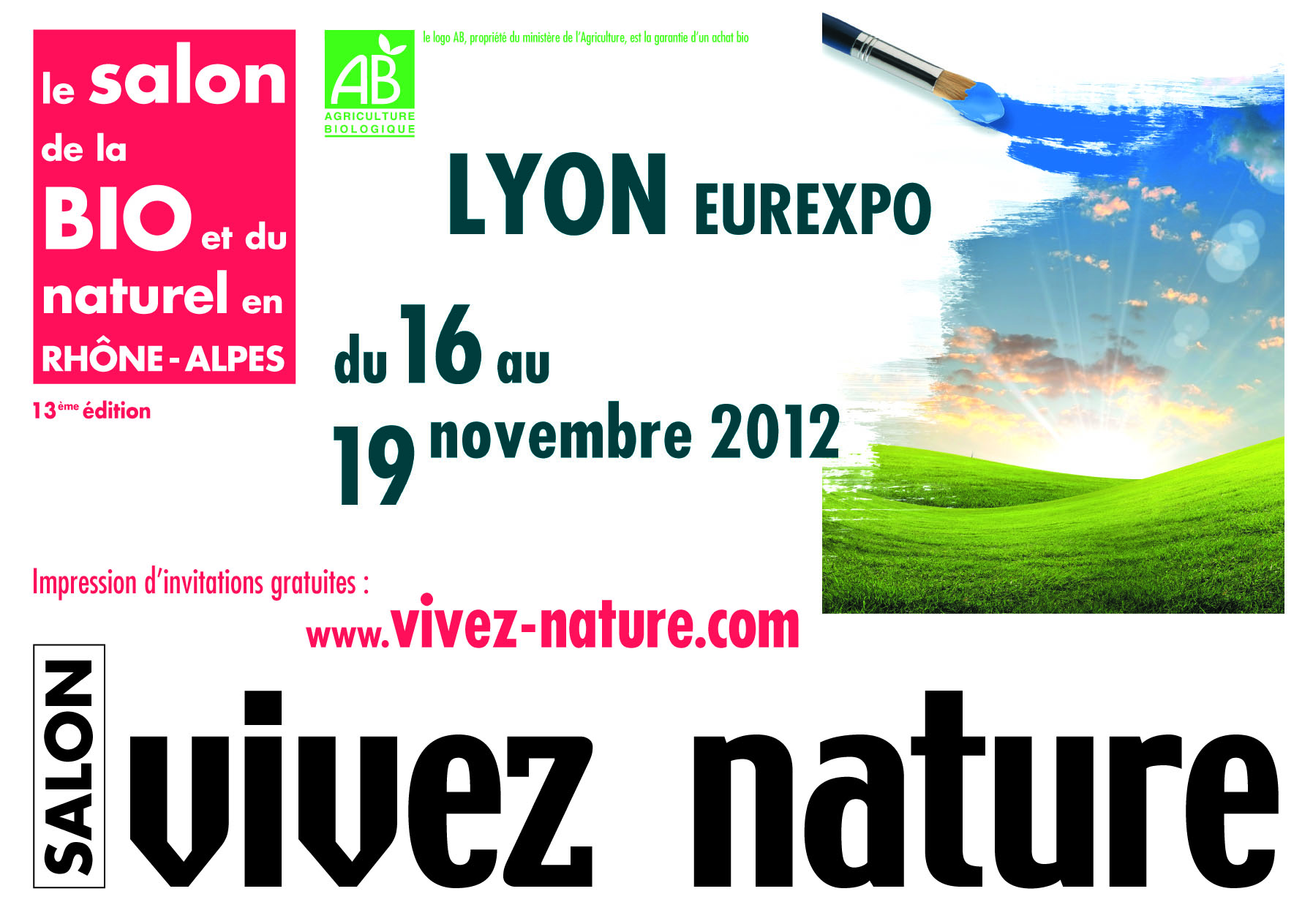 Vivez nature lyon 2012 le salon r gional de la bio et de for Salon vivez nature