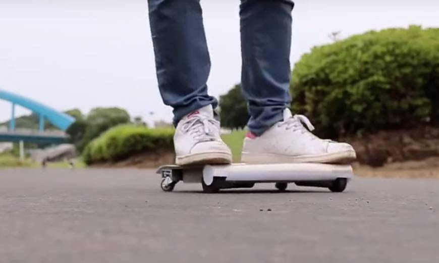 Walkcar un skateboard motoris de poche - Invention du skateboard ...